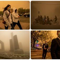 PUSTO MONGOLSKO - KINEZI PROKLINJU PUSTINJU GOBI: Snažna peščana oluja sa severa zavila Peking u žuto! (FOTO/VIDEO)