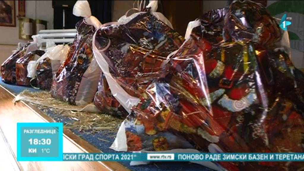 Paketići za korisnike Dečijeg sela u Sremskoj Kamenici