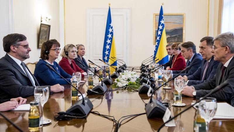 Palmer razgovarao sa članovima Predsjedništva BiH o NATO-u