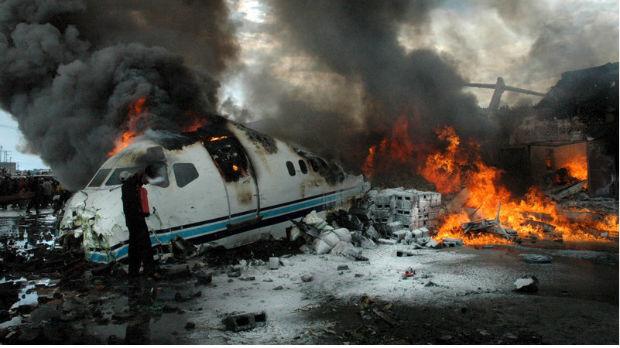 Avion pao na grad u Kongu