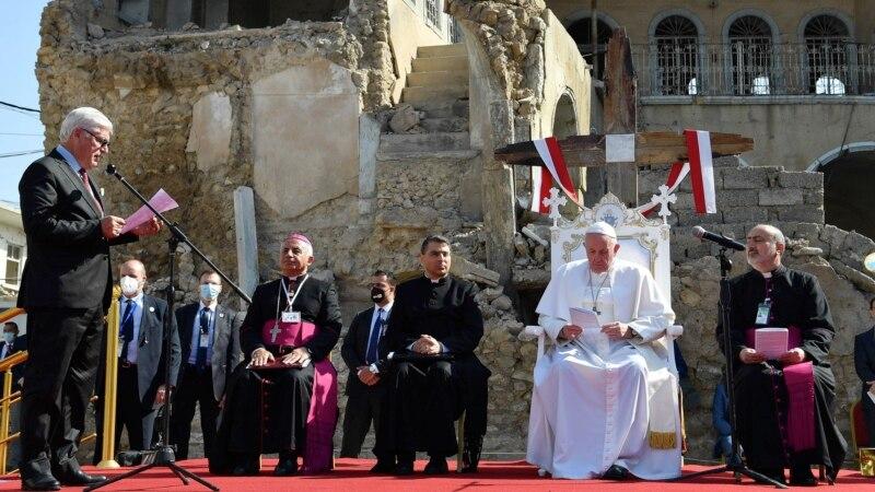 Papa pozvao na mir sa ruševina u iračkom Mosulu