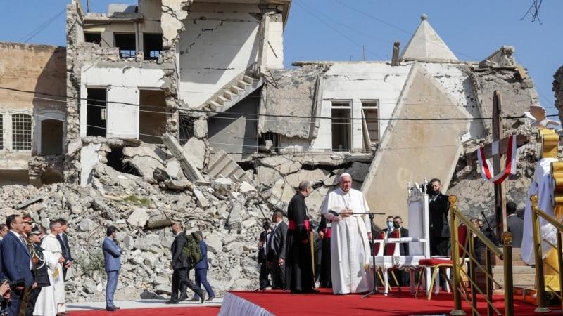 Papa u Iraku: Molitva u ruševinama crkava koje je srušila Islamska država