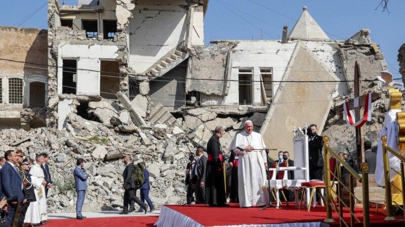 Papina u Iraku: Molitva u ruševinama crkava koje je srušila Islamska država