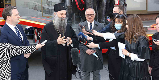 Patrijarh Porfirije: Sa premijerom Krivokapićem postignuta saglasnost o Ugovoru