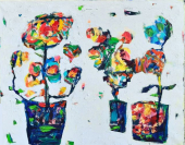 Petnaesta samostalna izložba: Ljiljin Festival u vrtu boja u Beogradu