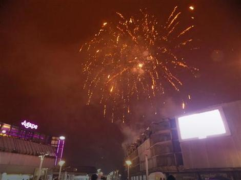 Petominutni spektakl: Vatromet na banjalučkom Trgu Krajine povodom Dana državnosti Srbije