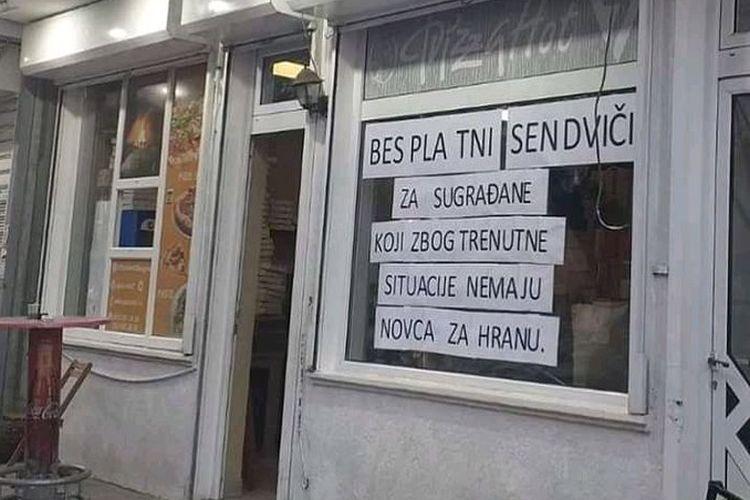 Piceriju koja je delila besplatne sendviče zatvorili zbog manjka od 680 dinara