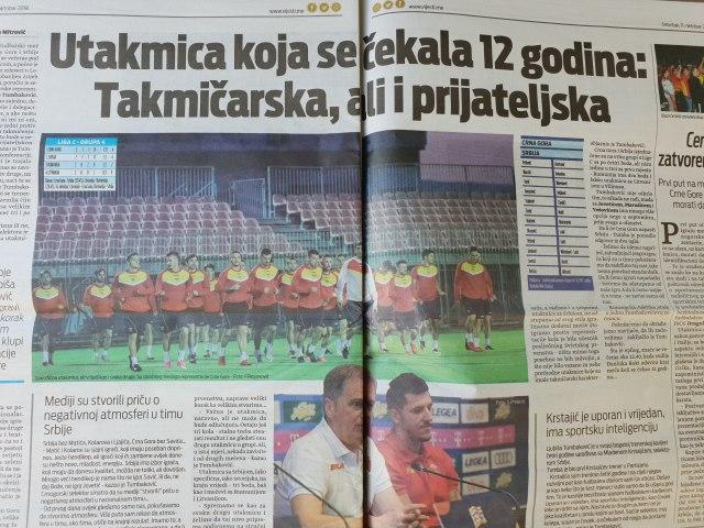 Pobediće Crna Gora, ali voleo bih da smo pod istim grbom