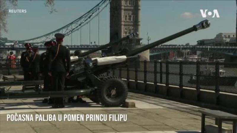 Počasna paljba za princa Filipa