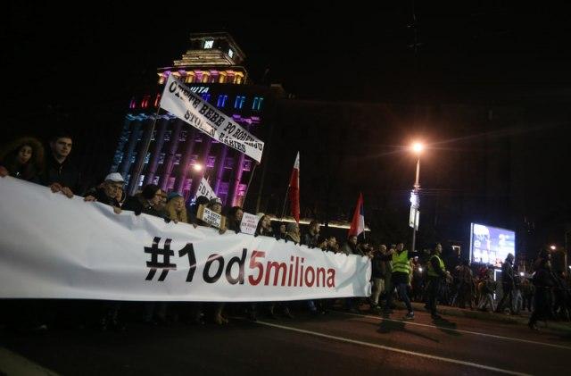 Završen 45. protest Jedan od pet miliona