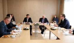 Počeo sastanak Vučića i Kurtija sa posrednicima EU