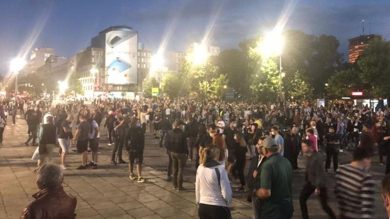 Šesti protest u Beogradu, bez incidenata