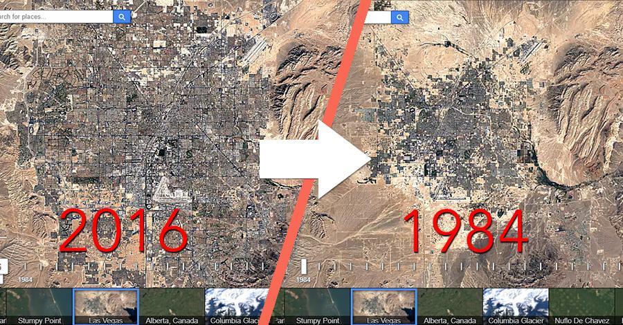 Pogledajte satelitske slike vašeg kraja kroz godine!