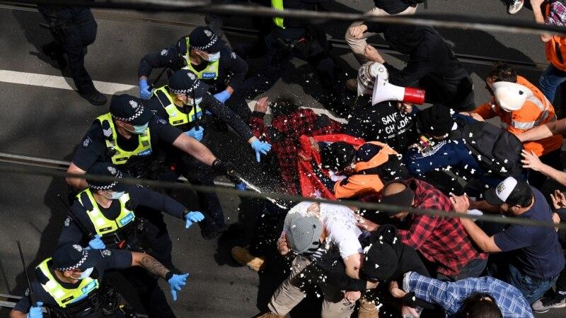 Na protestima u Melburnu uhapšeno više od 250 demonstranata
