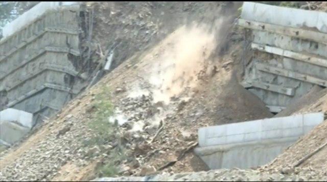 Politika: Potporni zid u Grdelici građen bez dozvole