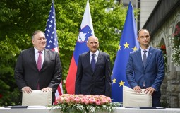 Pompeo stigao u posetu Sloveniji