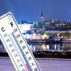 PRAVA ZIMSKA IDILA U BEOGRADU: Temperatura pala za 15 stepeni, sneg zabeleo prestonicu! Totalni OBRT! (FOTO)