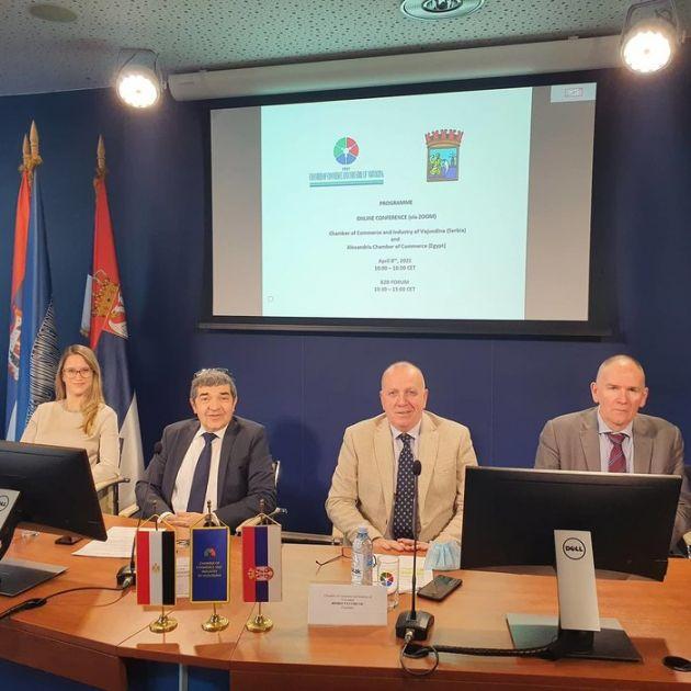 Poslovna saradnja privrednika iz Vojvodine i Aleksandrije – otvaranje novih tržišta