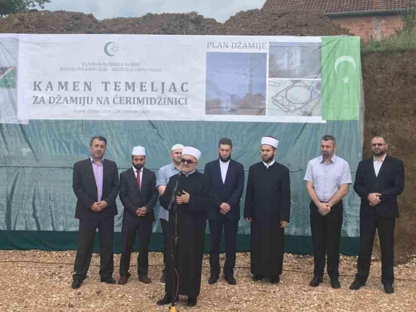 Postavljen kamen temeljac za džamiju na Ćerimidžinici