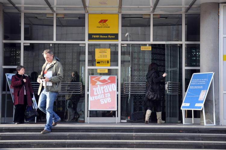 Pošte Srpske se zadužuju za 13,5 miliona KM