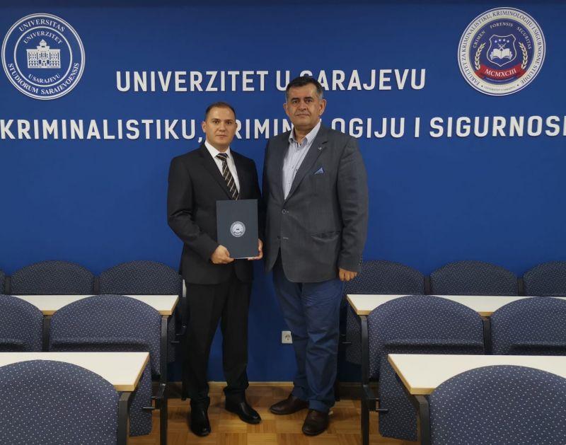 Potpisan sporzarum o saradnji između Departmana za pravne nauke IUNP i Fakulteta za kriminalistiku, kriminologiju i sigurnosne studije Univerziteta u Sarajevu