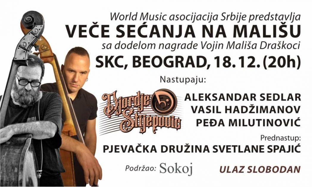 Povelja sa statuetom Vojin Mališa Draškoci kontrabasisti Stijepoviću