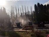 Požar na gradskom groblju u Čačku FOTO