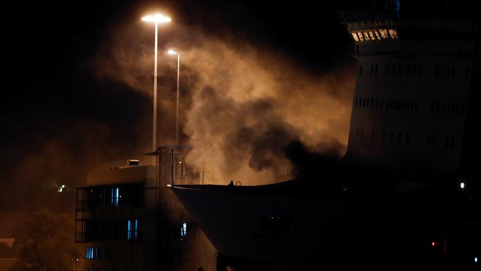 Požar na trajektu od Pireja do Krita, nema povređenih