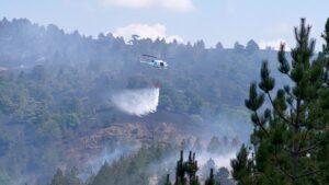 Požar u okolini Kumanova gase četiri helikoptera MUP-a Srbije