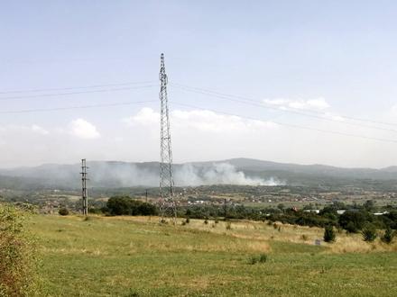 Požar u okolini Vranja: Žega i vetar raspiruju vatru