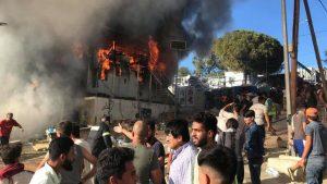 Požari pokrenuli proteste u izbegličkom kampu Moria, ima nastradalih