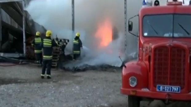 Požega, požar u fabrici peleta