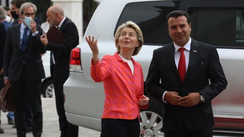 Predsednica EK: Nadam se početku pregovora Severne Makedonije i Albanije sa EU do kraja godine