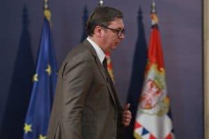 Predsednik Srbije Aleksandar Vučić prisustvuje današnjem sastanku Radne grupe za međupartijski dijalog