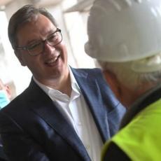 Predsednik Srbije večeras obilazi radove na kovid bolnici u Batajnici: Izgradnja gotova do 1. decembra