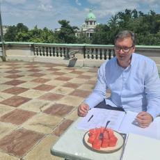 Predsednik Vučić otkrio savršen recept za uspeh: Nema dobrog plana bez dobre sremske lubenice! (FOTO)