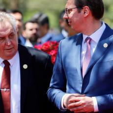 Predsednik Vučić u Češkoj: Sastanak sa Zemanom i najvišim zvaničnicima i razgovori o nastavku privredne saradnje