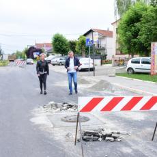 Predsednik opštine Zemun obišao radove na rekonstrukciji Dobanovačkog puta (FOTO)