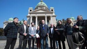 Predstavnici opozicije predali Skupštini platformu za poboljšanje izbornih uslova