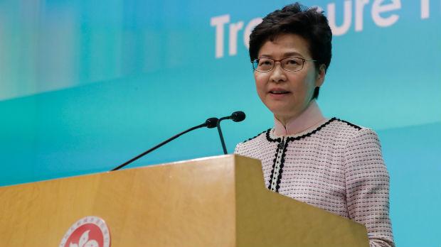 Prekinut govor liderke Hongkonga u parlamentu