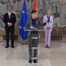 Premijerka Brnabić izjavila: Očekujem da EU i SAD utiču na Prištinu da primeni Briselski sporazum
