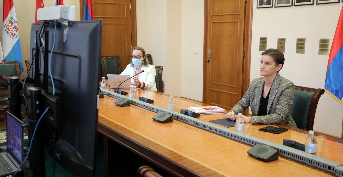 Premijerka na onlajn sastanku Svetskog ekonomskog foruma: Đaci nisu izgubili nijedan čas