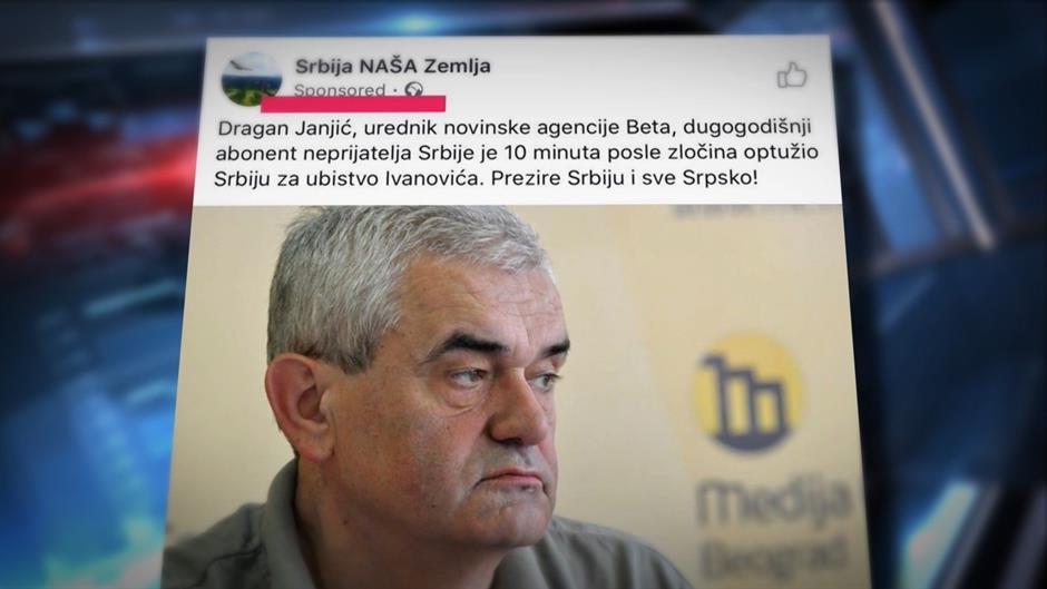 Pretnje Janjiću i Ne davimo Beograd sa istih Fejsbuk strana