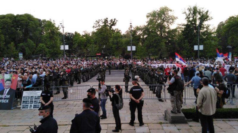 Završen protest vlasti i opozicije ispred Skupštine Srbije
