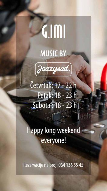 Produženi muzički vikend u restoranu G.IMI