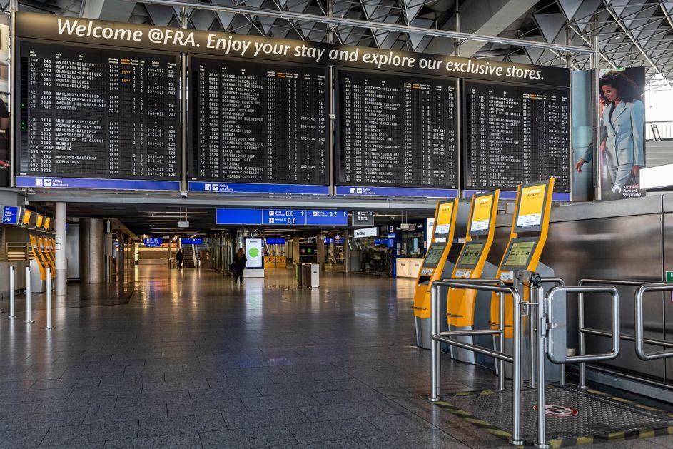 Promet evropskih aerodroma na nivou iz 1995.