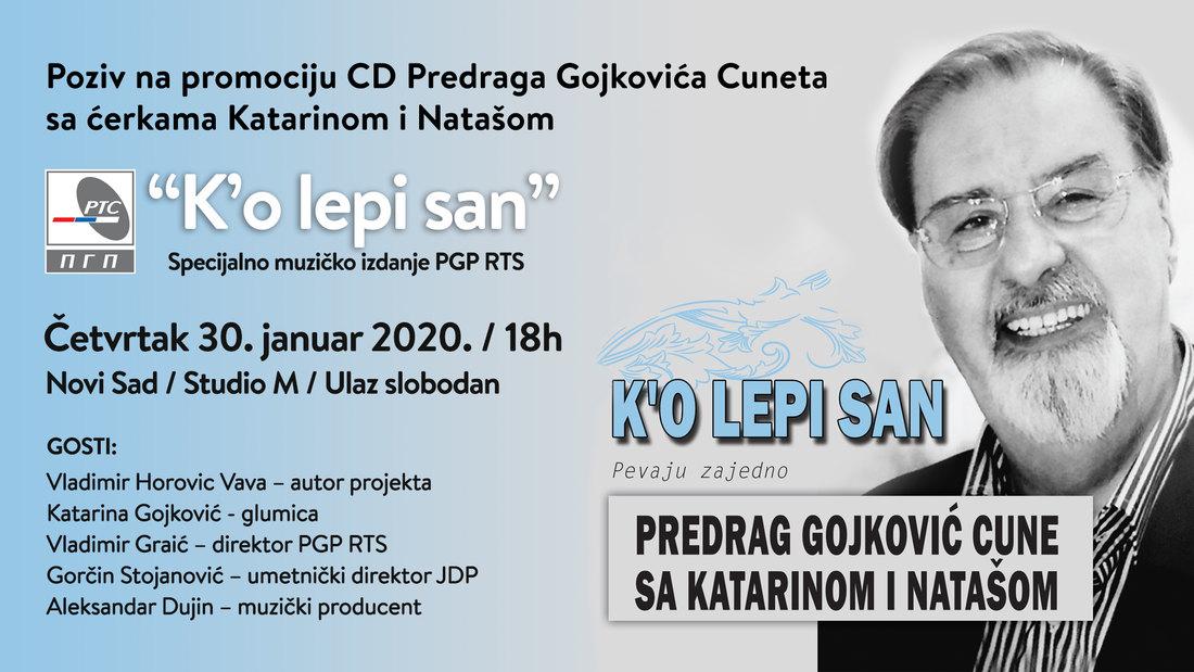 Promocija novog CD-a Cuneta Gojkovića sa ćerkama u Studiju M
