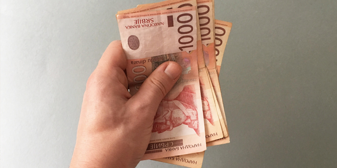Prosečna aprilska neto plata 64.948 dinara
