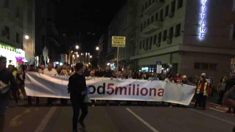 Protest 1 od 5 miliona: Čekamo 22. novembar i odluku o doktoratu Malog