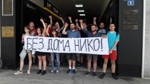 Protest Dobrile Petrović ispred Predsedništva